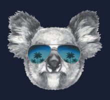 Koala with mirror sunglasses Baby Tee