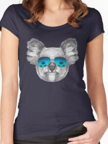 Koala with mirror sunglasses Women's Fitted Scoop T-Shirt