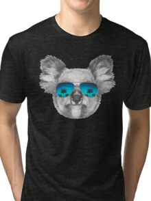 Koala with mirror sunglasses Tri-blend T-Shirt