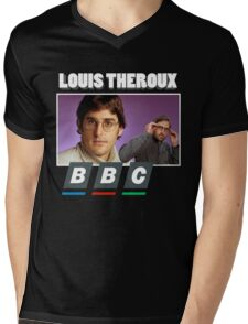 Louis Theroux Print Mens V-Neck T-Shirt