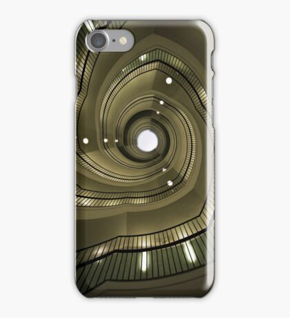 Modern spiral staircaise iPhone Case/Skin