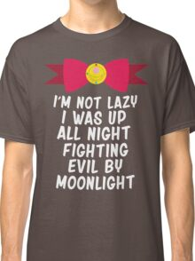 Fighting Evil By Moonlight Classic T-Shirt