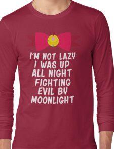 Fighting Evil By Moonlight Long Sleeve T-Shirt
