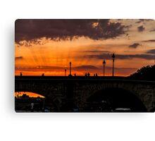Sunset on the Seine Canvas Print