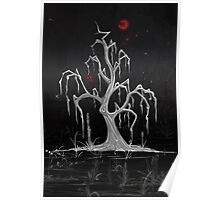 Red Moon White Willow Poster