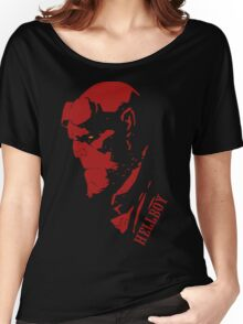 Funny Sad Hellboy Women's Relaxed Fit T-Shirt