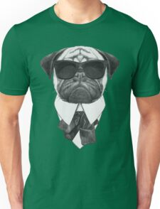 Pug In Black Unisex T-Shirt
