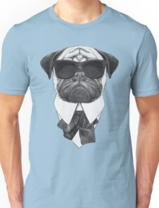 Pug In Black Unisex T-Shirt