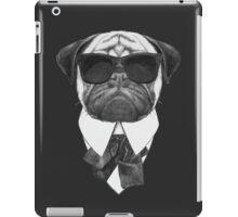 Pug In Black iPad Case/Skin