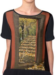 Doorway with Autumn leaves Chiffon Top