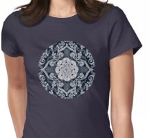 Centered Lace - Dark Womens Fitted T-Shirt