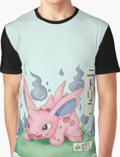 Nidorino Japanese Pokemon Graphic T-Shirt
