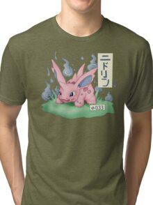 Nidorino Japanese Pokemon Tri-blend T-Shirt