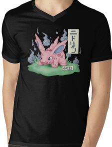 Nidorino Japanese Pokemon Mens V-Neck T-Shirt