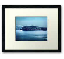 Santorini Coast VRS2 Framed Print