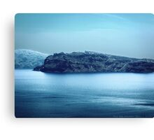 Santorini Coast Canvas Print