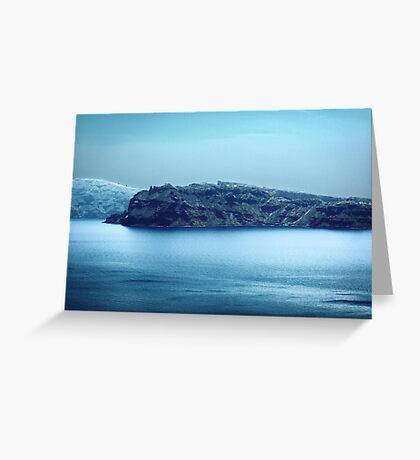 Santorini Coast VRS2 Greeting Card