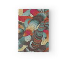 Wormy.abstract art,contemporary art,modern,dark,multicolor Hardcover Journal