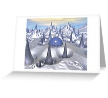 Science Fiction Landscape Greeting Card
