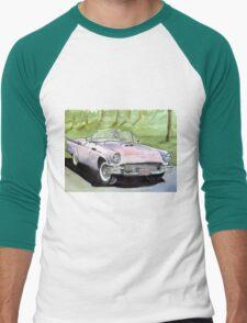 "Baby Pink ""57 Baby Bird Convertible Men's Baseball ¾ T-Shirt"