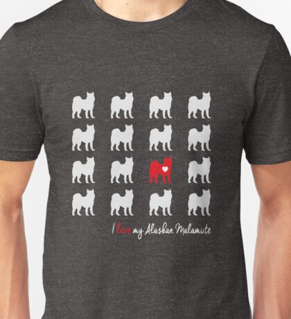 I love my Alaskan Malamute - breed dog Unisex T-Shirt