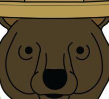 Sombrero Bear Sticker