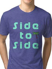 Side to Side Design Tri-blend T-Shirt