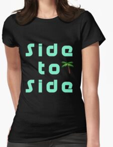 Side to Side Design Womens Fitted T-Shirt