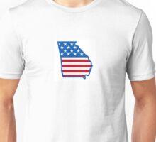 American Flag Georgia Unisex T-Shirt