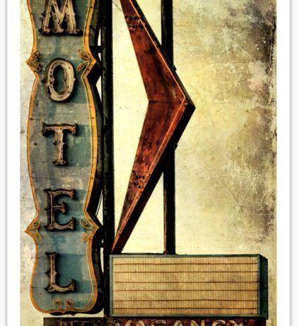 Vintage Arrow Motel Sign, Lompoc, CA Sticker