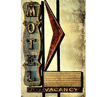 Vintage Arrow Motel Sign, Lompoc, CA Photographic Print