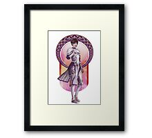 Joan of Arc (Badass Women of History Collection) Framed Print