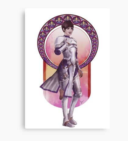 Joan of Arc (Badass Women of History Collection) Canvas Print