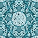 Centered Lace - Teal by micklyn