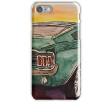 Bullitt green pony classic hotrod muscle car iPhone Case/Skin