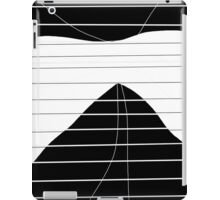White and black abstract art iPad Case/Skin