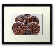 chocolate cupcake macro shot Framed Print
