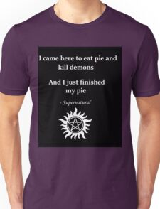 Dean Winchester and Pie Unisex T-Shirt