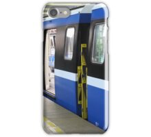 Subway train at the station iPhone Case/Skin