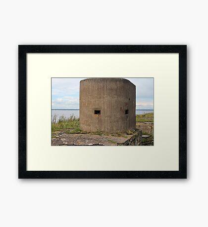 embrasure gun turret sea fort Framed Print