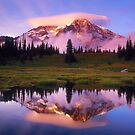 A REFLECTION OF MT. RAINIER IN THE WATER by MsLiz