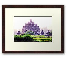 Plaosan Temple Indonesia when fog attack Framed Print
