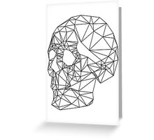 Wire Skull Greeting Card