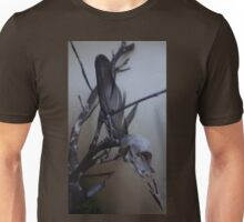 First dead bird skull burning with a black flame feather Unisex T-Shirt