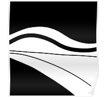 White and black Poster
