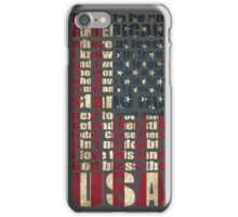 Proud to be an American - God bless the USA lyrics iPhone Case/Skin