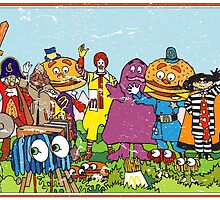 McDonald's characters (Distressed) by gamac74