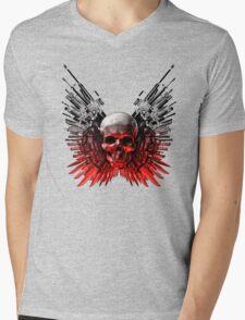 Weapon skull Mens V-Neck T-Shirt