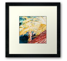 Golden Palm Deep Blue Sky Framed Print