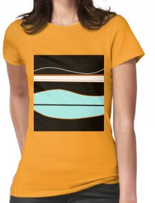 Cyan, black and white  Womens Fitted T-Shirt